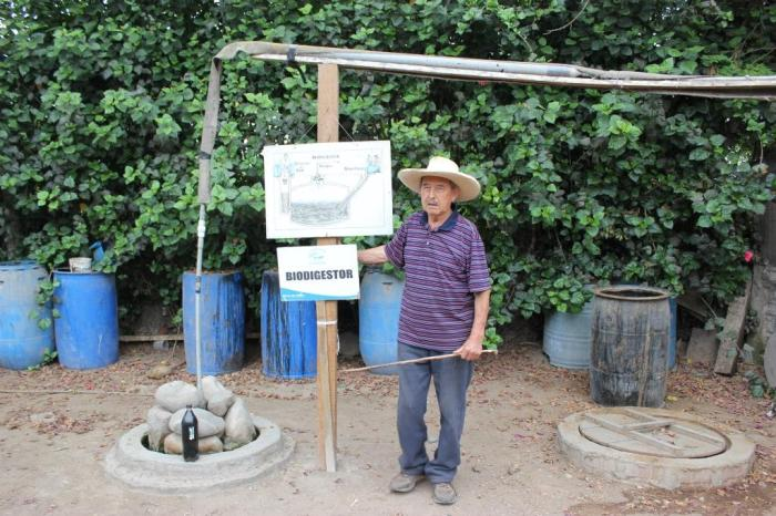 biodigestor cover for underground pit & methane gaz pipe sm