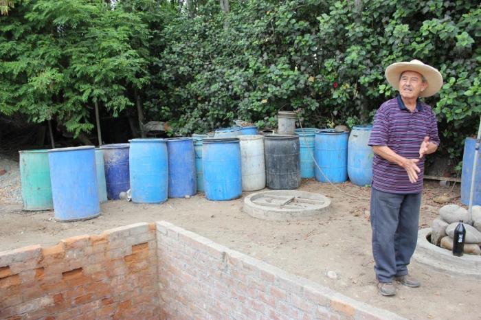 biodigestor water & sludge waste barrels sm
