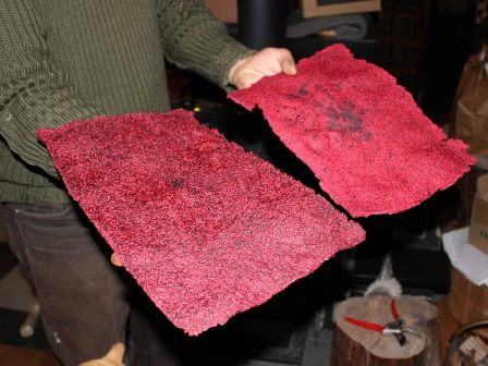 raspberry fruit leather2